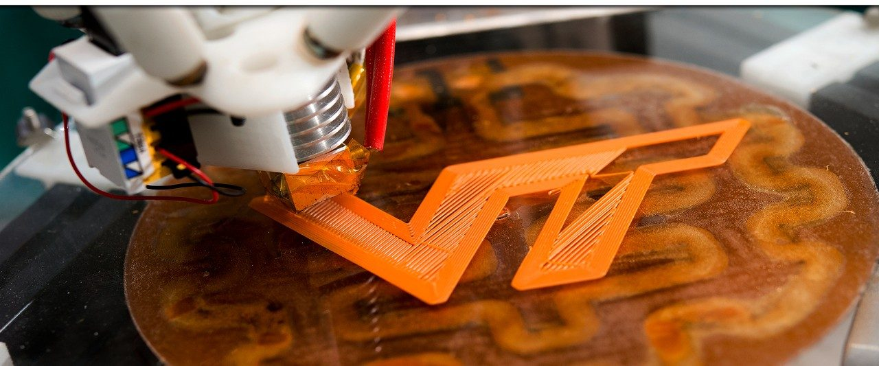 Image of 3D printed VT logo