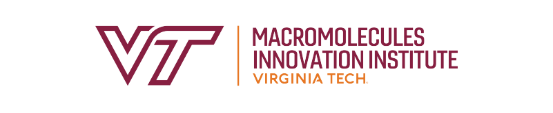 The Macromolecules Innovation Institute logo has the letters M I I in a maroon color, and a tagline that reads discovery at the nexus of minds and molecules.